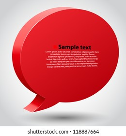 Vector chat bubble with place for text