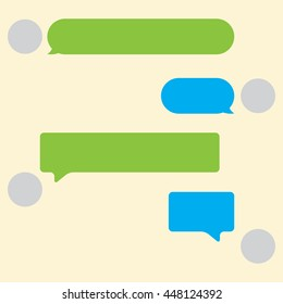 Vector Chat Elements in color