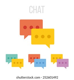 Vector chat icons.