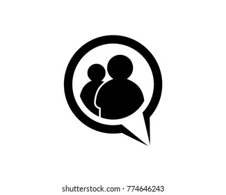 Vector Chating Two People Icon Logo