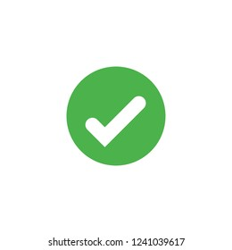 Vector check mark icon isolated. Approve symbol. Element for design logo mobile app interface card or website.