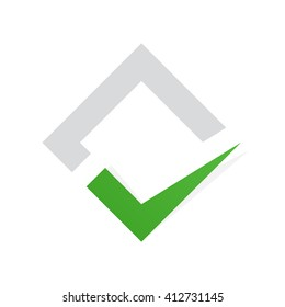 Vector check mark logo.