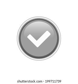 Vector check silver button