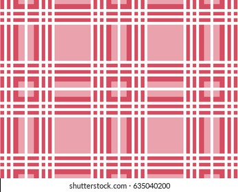 Vector Checkered background. Chess pattern of horizontal and vertical stripes. Trendy pink color.