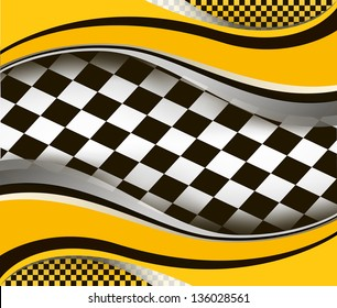 vector checkered racing flag background. EPS10 illustration