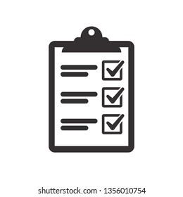 Vector checklist clipboard vector icon