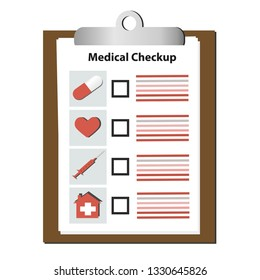 Vector checklist medical infographics