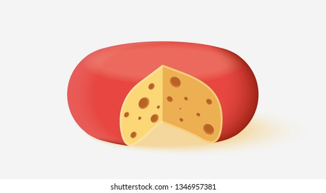vector cheese icon on white background