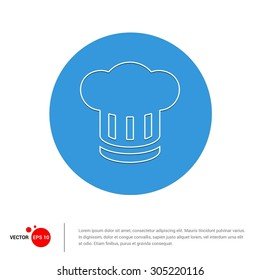 Vector Chef Cap Icon - Flat pictogram icons illustration