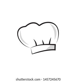 Vector chef hat. Baker cap isolated on white background.