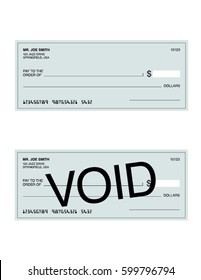 Vector Cheque and Void Cheque Set