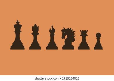 vector chess set, created in adobe illustrator