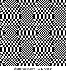 Vector of chess square seamless pattern.Black and white