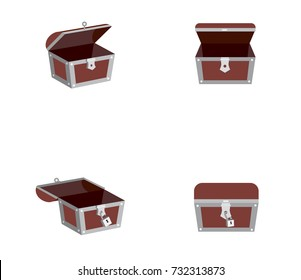 Vector of chest box or treasure box