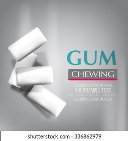 vector chewing gum isolated on a gray background (imitation 3d)