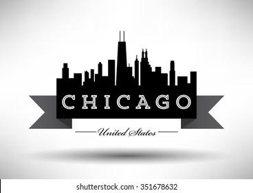 Vector Chicago Skyline Design