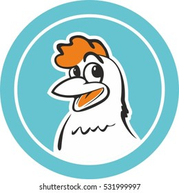 Vector chicken character for logo template