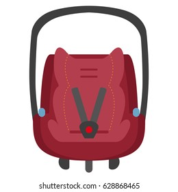 Vector child car seat 0+. Front view