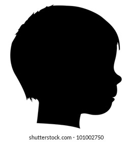 Vector child silhouette