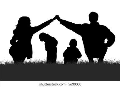 vector children in parents house