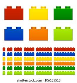 vector children plastic bricks toy