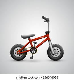 vector child's bike