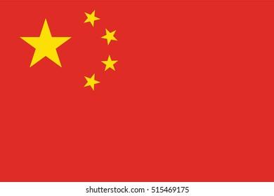 Vector China flag, China flag illustration, China flag picture, China flag image