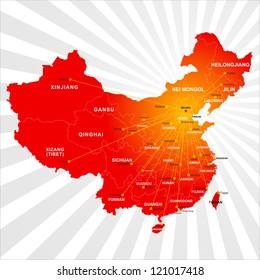 Vector China map