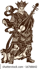 Vector of Chinese Ancient Soldier