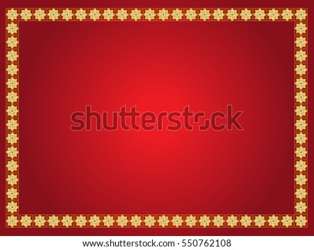 vector of chinese new year background with golden border abstract oriental wallpaper with decoration frame