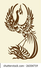 Vector of Chinese phoenix