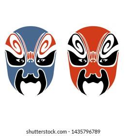 Vector Chinese Style Masks/Beijing Opera Masks(Bian lian)