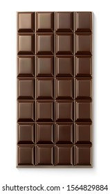 Vector chocolate bar on white background
