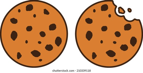 chocolate chip cookie with bite images stock photos vectors rh shutterstock com chocolate chip cookies clip art free chocolate chip cookie clip art free