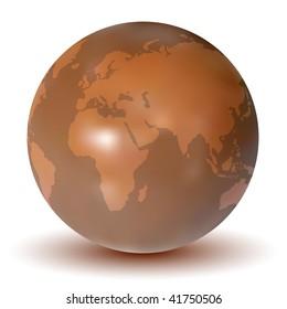 Vector Chocolate Earth