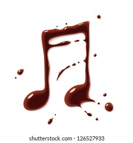 Vector chocolate note symbol