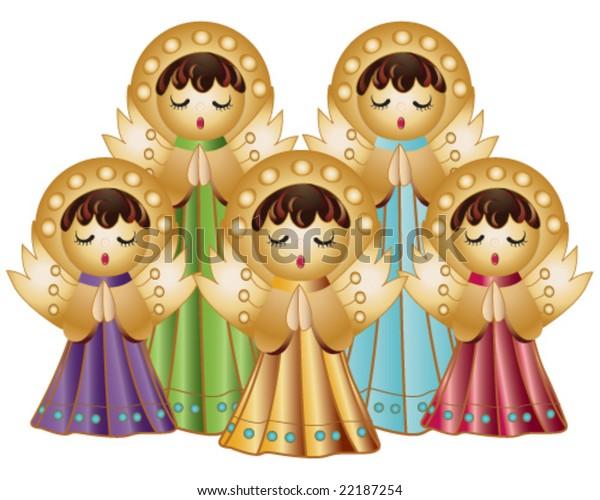 Vector Choir Angels Singing Stock Vector Royalty Free 22187254