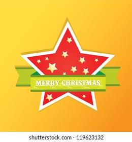 vector christmas background. cut paper design. vector christmas star. xmas card,