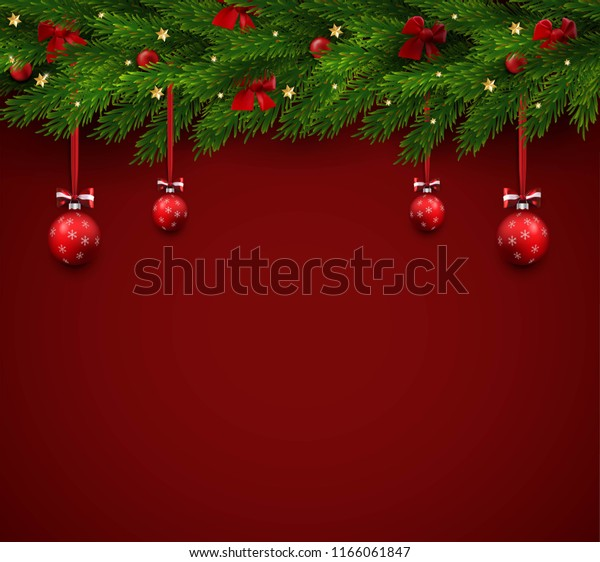 Christmas Background Free.Vector Christmas Background Realistic Christmas Tree Stock