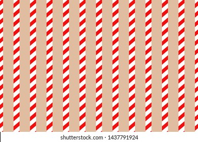 Vector Christmas background. Red and white candy cane pattern.