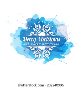 Vector Christmas background with snowflakes. New Year card.