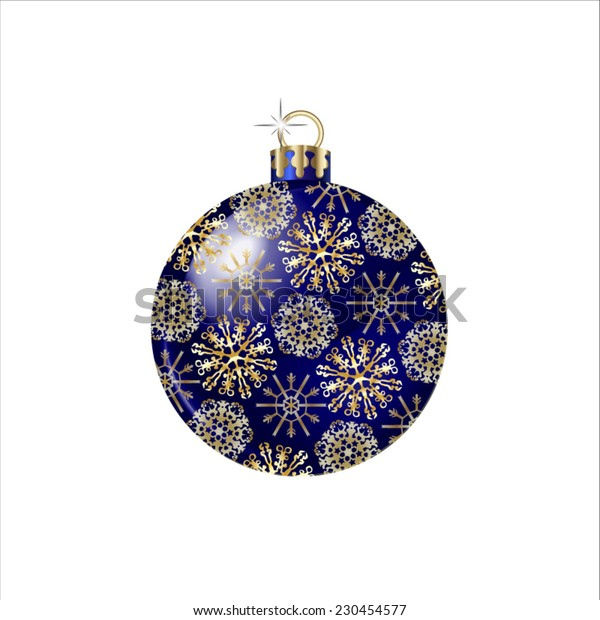 Vector Christmas Ball isolated on white background.