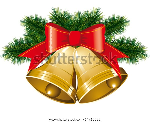 Christmas Bells Images.Vector Christmas Bells Christmas Tree Decorations Stock