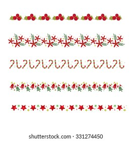 vector christmas borders set