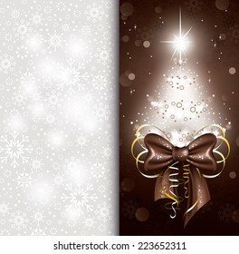 Vector Christmas Card. Abstract Background.