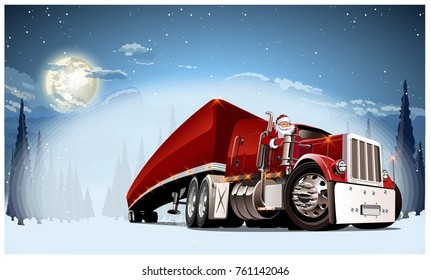 Vector Christmas Card. Available EPS-10 format separated by groups and layers for easy edit