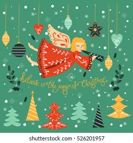 Angels Christmas Cards.Christmas Angels Stock Vectors Images Vector Art