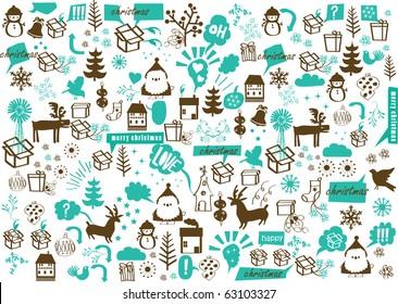 vector - christmas crazy wallpaper
