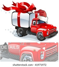 Vector Christmas delivery / cargo truck. More vector muscle cars see in my portfolio
