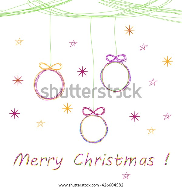 Vector Christmas Doodle Background Cute Christmas Stock